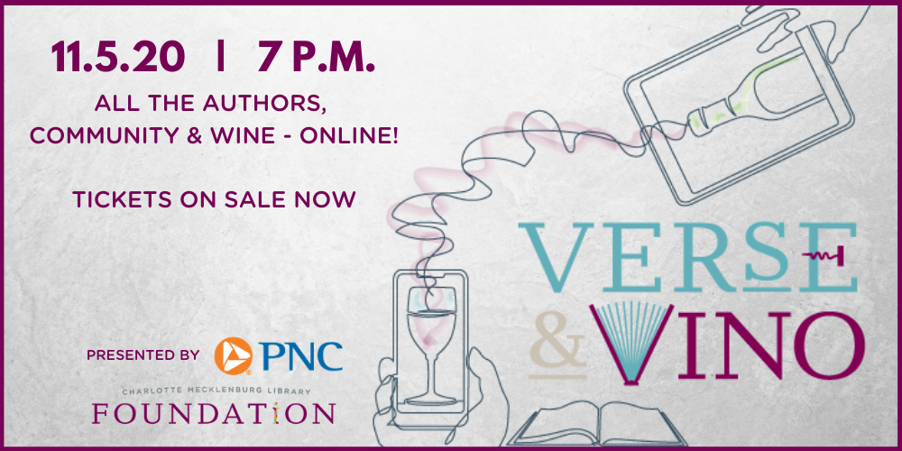 Save the date for Verse & Vino, November 5, 2020