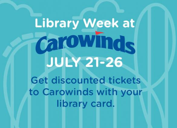 Get discounted tickets to Carowinds with your library card, July 21-26