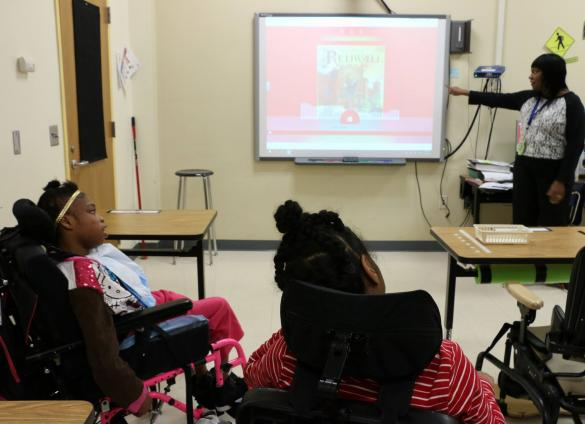 CMS students access digital library materials