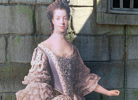 A cardboard cutout of Queen Charlotte is taking Charlotte Mecklenburg Library and Charlotte by storm.