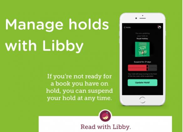 Manage holds with Libby