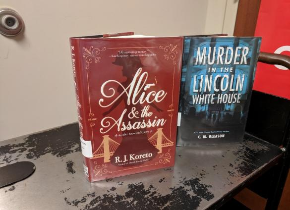 The 16th and 26th U.S. presidents, Abraham Lincoln and Theodore Roosevelt respectively, are role players in two separate new mystery series featuring amateur detectives in the White House.