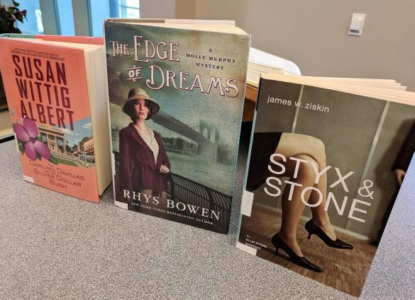 Historical fiction blends into female detective novels with these three series at Charlotte Mecklenburg Library