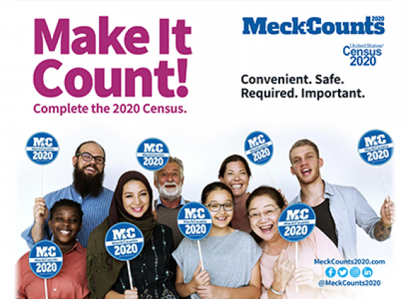 Be counted during the 2020 Census