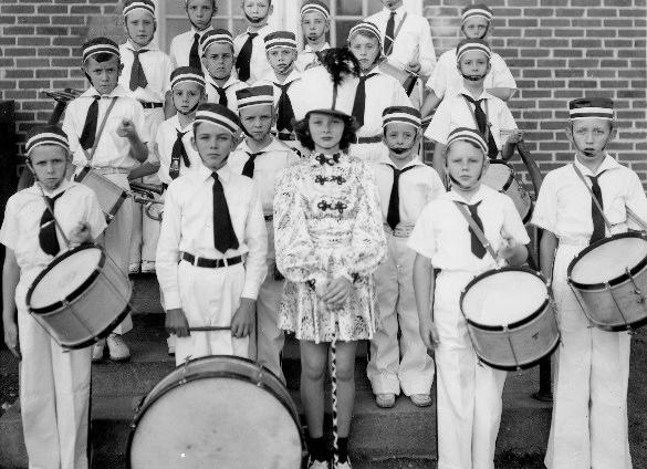 Midwood Elementary School, Drum and Bugle Corps, 1938-1939 Courtesy of the Robinson-Spangler Carolina Room