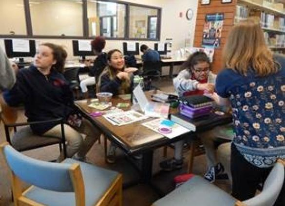 Students at Southwest Middle School in Charlotte, North Carolina participate in afterschool programming provided by Charlotte Mecklenburg Library's Steele Creek Library branch.