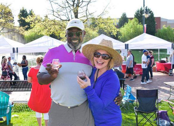 Oenophiles and bibliophiles united on April 13, 2019 at University City WineFest. Proceeds from the event proceeds benefited the Sugar Creek and University City Libraries.