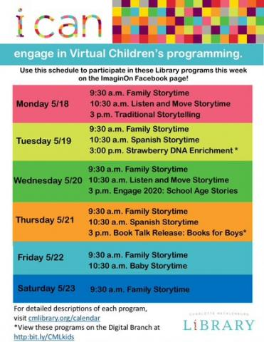 Online programming with Charlotte Mecklenburg Library