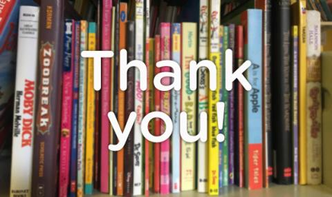 Thank you for making literacy a top priority