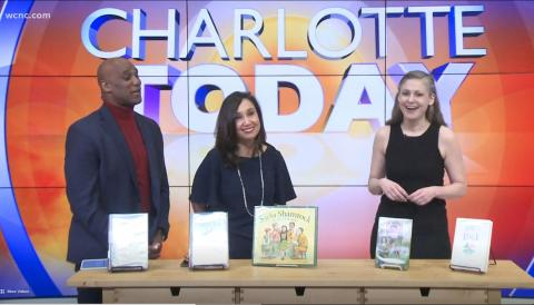 Charlotte Mecklenburg Library appearance on WCNC March 14, 2019 for A Trip To Ireland