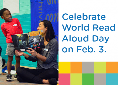 Celebrate World Read Aloud Day with a full day of online stories from Charlotte Mecklenburg Library on February 3, 2021.