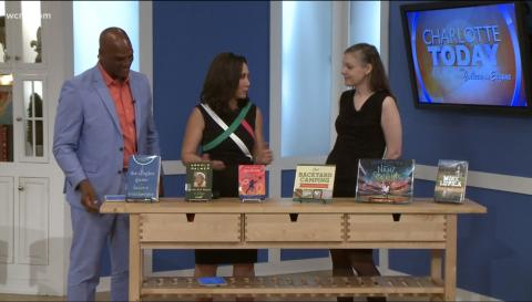 WCNC Charlotte Today with Charlotte Mecklenburg Library May 2018. Books about Sports.